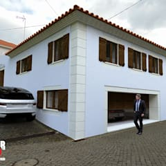 Exterior#001: Casas unifamilares  por Factor4D - Arquitetura, Engenharia & Construção