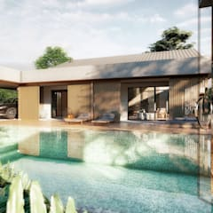 Uma casa que abraça: Casas familiares  por realizearquiteturaS