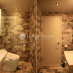 암사동 한강포스파크 아파트: Design Daroom 디자인다룸의  욕실,러스틱 (Rustic)