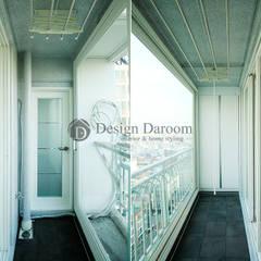 암사동 한강포스파크 아파트 러스틱스타일 발코니, 베란다 & 테라스 by Design Daroom 디자인다룸 러스틱 (Rustic)