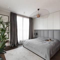 projekt wnętrza mieszkania: styl , w kategorii Sypialnia zaprojektowany przez Dmowska design
