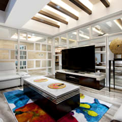 Juhu Residence: modern Media room by neale castelino Photography