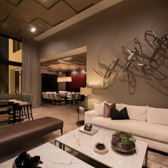 Sala/ bar/ comedor : Salas multimedia de estilo moderno por VOA Arquitectos