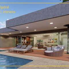 Piscinas: Piscinas de jardim  por Arquiteta Carol Algodoal Arquitetura e Interiores