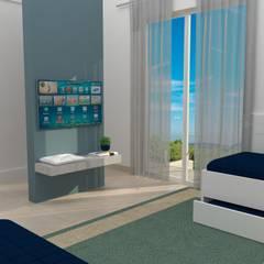 Dormitório hóspedes: Quartos  por TREVISO Studio Arquitetura e Interiores