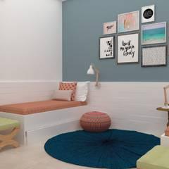 Dormitório meninas: Quartos de adolescente  por TREVISO Studio Arquitetura e Interiores