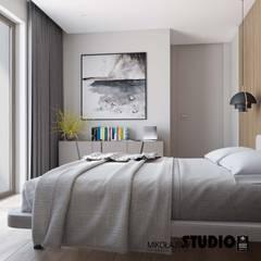 sypialnia pełna światła: styl , w kategorii Sypialnia zaprojektowany przez MIKOŁAJSKAstudio