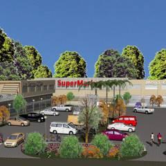 Vista aerea: Galerías y espacios comerciales de estilo  por MOLEarquitectura