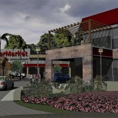 Vista confiteria: Galerías y espacios comerciales de estilo  por MOLEarquitectura