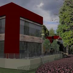 Detalle esquina resto.: Galerías y espacios comerciales de estilo  por MOLEarquitectura