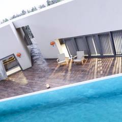 Pool House de MIB Studio Minimalista Madera Acabado en madera
