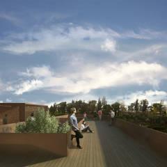 Terrazza panoramica: Terrazza in stile  di Architetto Maria Grazia Gai