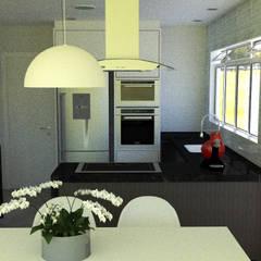 Cozinha e copa: Cozinhas embutidas  por Thiago Lima Arquiteto