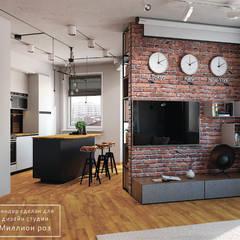 DESIGN PROJECT - LOFT: styl , w kategorii Salon zaprojektowany przez Design studio TZinterior group