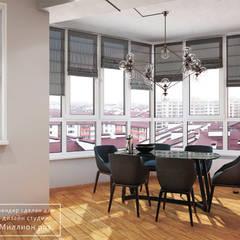 DESIGN PROJECT - LOFT: styl , w kategorii Jadalnia zaprojektowany przez Design studio TZinterior group