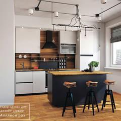 DESIGN PROJECT - LOFT: styl , w kategorii Kuchnia zaprojektowany przez Design studio TZinterior group