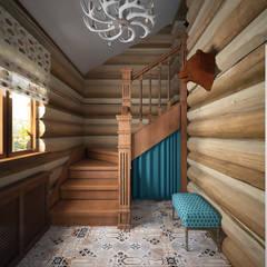 лестница : Коридор и прихожая в . Автор – студия Виталии Романовской
