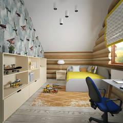 Детская в доме: Детские комнаты в . Автор – студия Виталии Романовской