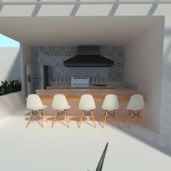 Espaço gourmet: Casas familiares  por TREVISO Studio Arquitetura e Interiores