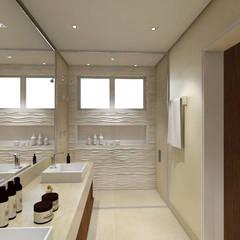 Banho master: Banheiros modernos por TREVISO Studio Arquitetura e Interiores
