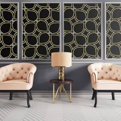 Parete: Pareti in stile  di Shiny Glass Tiles