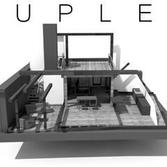 Aménagement de COMBLE en DUPLEX: Maisons de campagne de style  par DESSINATEUR INDÉPENDANT
