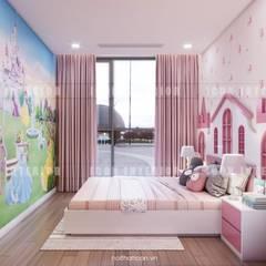 Thiết kế nội thất căn hộ Vinhomes Central Park Tân Cảng :  Phòng trẻ em by ICON INTERIOR,