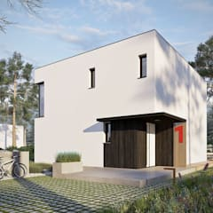 Projekt domu EX 2 soft - nowoczesna kostka w najlepszym wydaniu od Pracownia Projektowa ARCHIPELAG Minimalistyczny