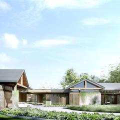 www.tissu.pl: styl eklektyczne, w kategorii Domy zaprojektowany przez TISSU Architecture