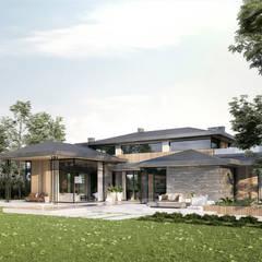 Dom typowy Kalifornia House 232 + 55m garaż: styl , w kategorii Willa zaprojektowany przez TISSU Architecture