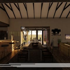 House Snyman:  Dining room by Property Commerce Architects
