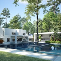 Pool Area:  Garden Pool by Comelite Architecture, Structure and Interior Design