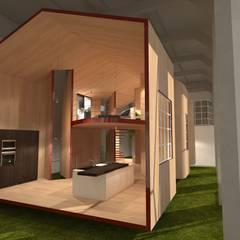 riuso di un capannone industriale: Spazi commerciali in stile  di Simone Fratta Architetto
