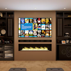 Kensington Basement Home Cinema de Custom Controls Clásico