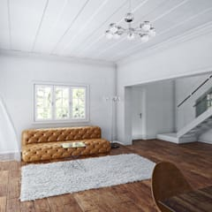 Lounge:  Living room by 7Storeys