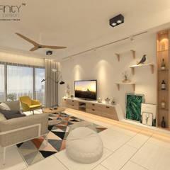 Scandinavian Design . Condominium by inDfinity Design (M) SDN BHD Scandinavian