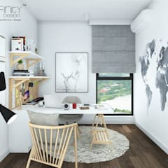 scandinavian Study/office by inDfinity Design (M) SDN BHD