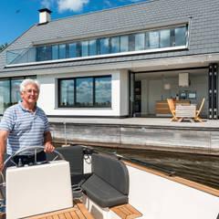Leben am Wasser:  Terrasse von Solarlux GmbH