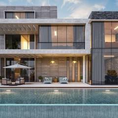 VERO CONCEPT MİMARLIK – Urla Kekliktepe Villa:  tarz Evler