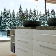 Switzerland Winter Villa:  Bathroom by 7Storeys, Minimalist