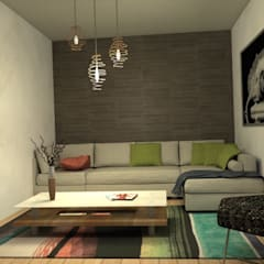 Proyecto de Diseño interior - Living Room: Livings de estilo  por MM Design