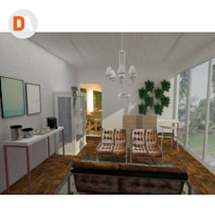 Recepção e sala de espera/ Salão AF.: Espaços comerciais  por DA.rquitetura