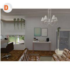 Projeto de Interiores Salão AF - Anderson Ferreira: Espaços comerciais  por DA.rquitetura,Escandinavo Madeira Efeito de madeira