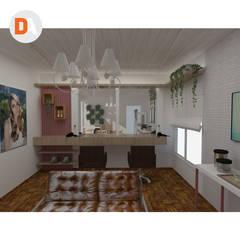 Salão AF - Anderson Ferreira bancada de trabalho: Espaços comerciais  por DA.rquitetura
