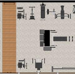 Ruang Fitness oleh Joana Rezende Arquitetura e Arte