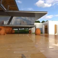 Átrio de acesso ao diversos espaços. : Centros de exposições  por Arbisland Arquitectura & Design