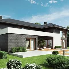 Projekt domu HomeKONCEPT 40: styl , w kategorii Dom jednorodzinny zaprojektowany przez HomeKONCEPT | Projekty Domów Nowoczesnych