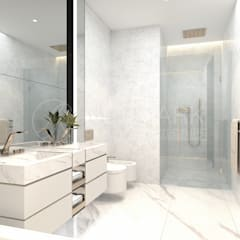 Apartment on Tverskaya Street. Апартаменты на Тверской.: Ванные комнаты в . Автор – Anton Neumark