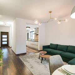 Apartament Kolonialny: styl , w kategorii Salon zaprojektowany przez KODO projekty i realizacje wnętrz