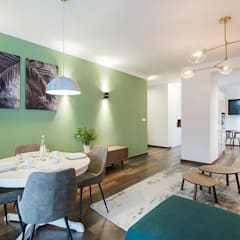 Apartament Kolonialny: styl , w kategorii Salon zaprojektowany przez Pracownie Wnętrz Kodo